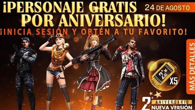 Garena vai dar Personagens de Graça no Aniversário do Free Fire!