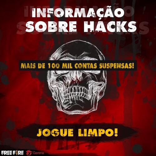 Garena x Hacks - 100 mil BR banidos