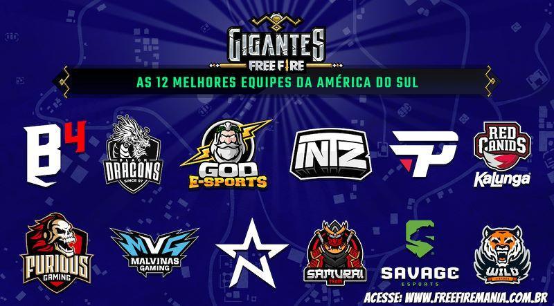 Gigantes Free Fire reúne melhores times da América do Sul neste sábado