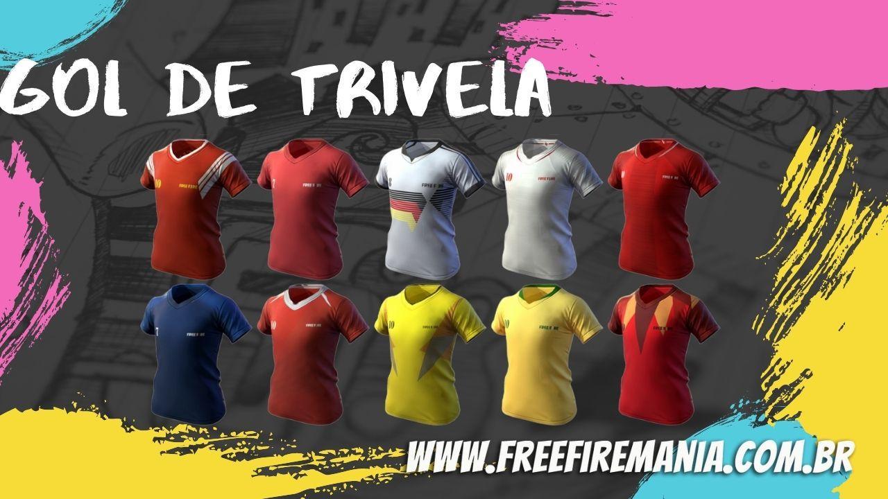 Gol de Trivela Free Fire: evento com as camisas de times está de volta nesta segunda