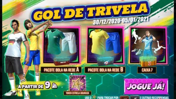 Gol de Trivela Free Fire: novo evento traz de volta camisas de times, veja como conseguir