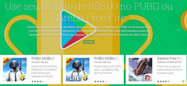 Google Play está dando até R$ 9 Reais