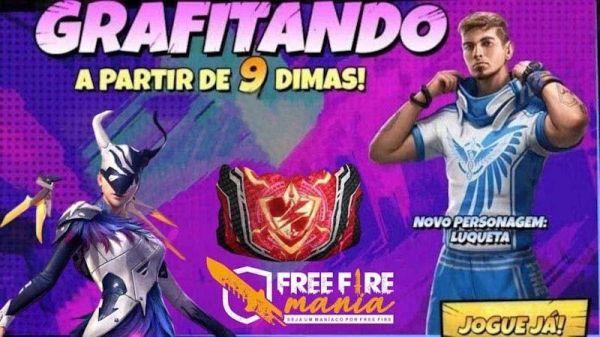Grafite da Steffie no Free Fire: Anjo Sombrio, Luqueta e Gel de volta!