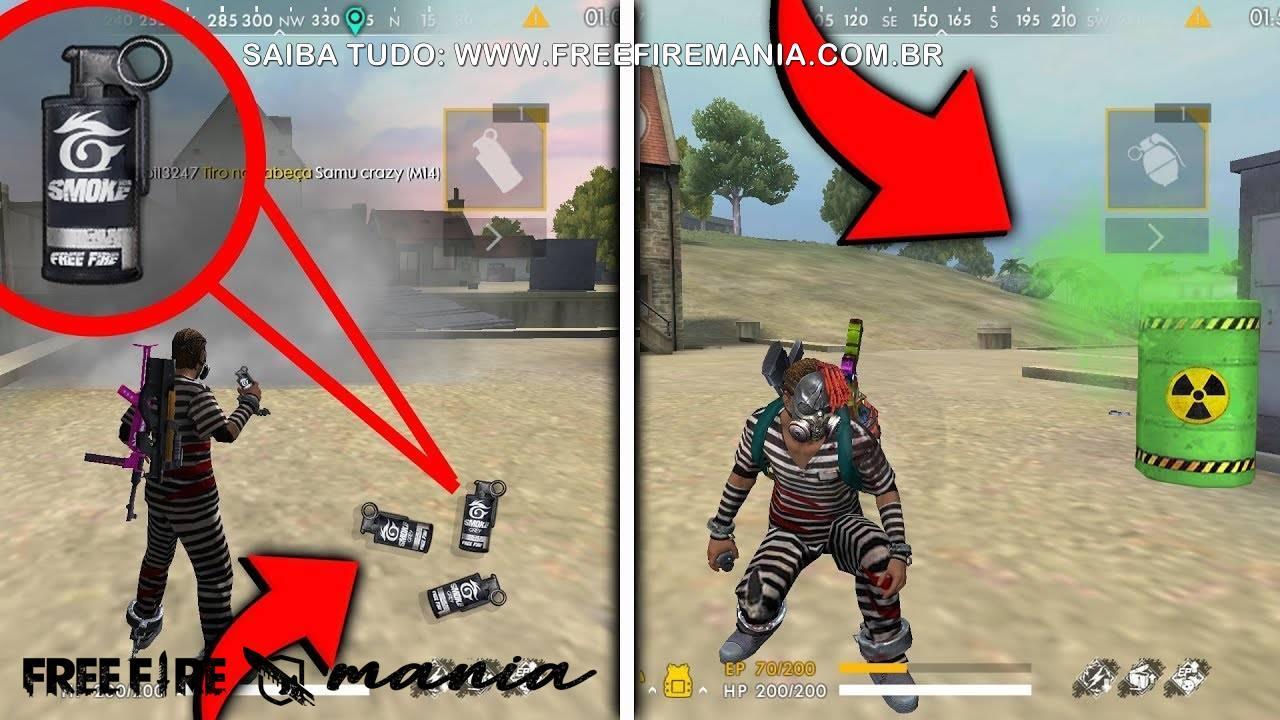 Granada de Fumaça: o novo item disponível nas partidas do Free Fire