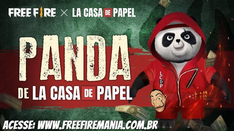 Grátis no Free Fire: Ganhe o Pet e a skin do Panda La Casa de Papel