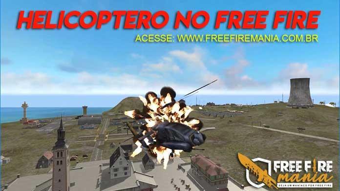 Helicóptero no Free Fire - Montagem em 3D feita por um fã