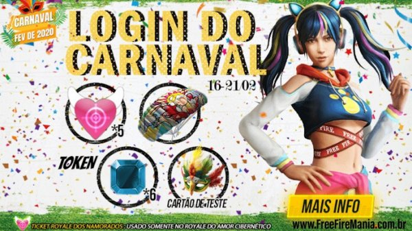 Hoje! 7 Tickets do Sorte Royale no evento de Carnaval
