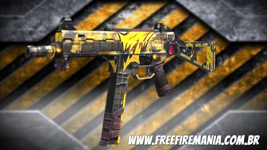 Hoje! Skin da UMP Cataclismo grátis no Free Fire