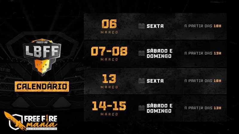 Hoje tem LBFF ao vivo! Liga Brasileira de Free Fire