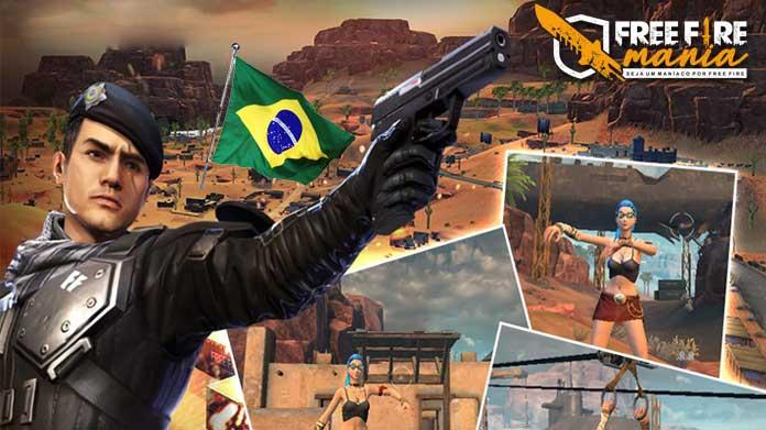 Tribute to Brazil on the Kalahari Map of Free Fire