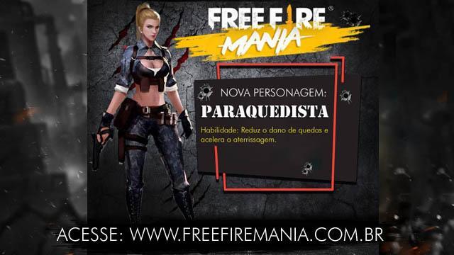Ideia: Nova Personagem - Laura a  Paraquedista