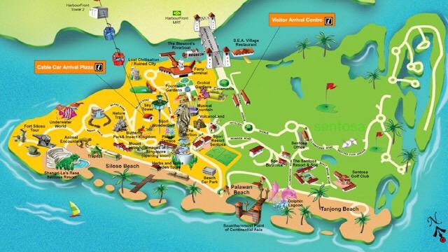 Free Fire na vida Real: Ilha de Sentosa do Mapa Bermuda