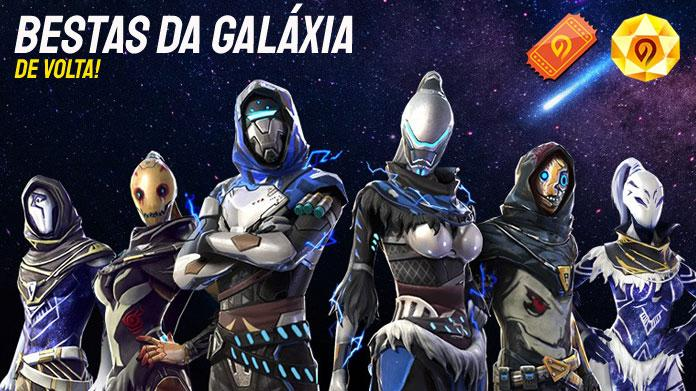 Incubadora Bestas da Galáxia de volta ao Free Fire