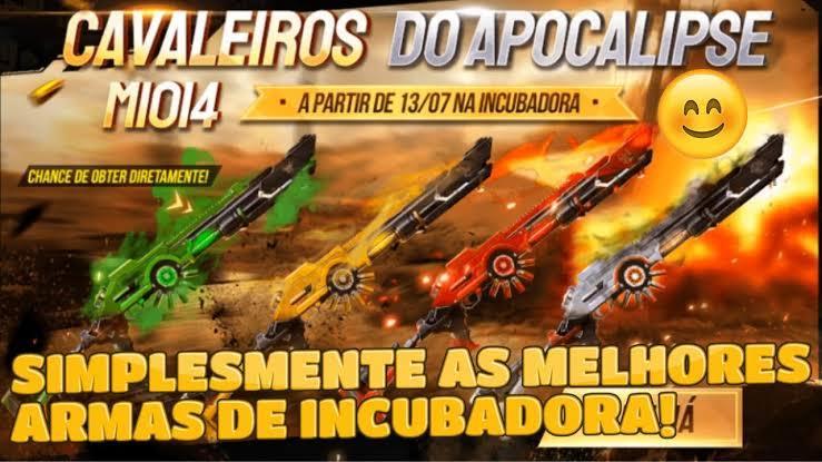 Incubadora Free Fire: Cavaleiros do Apocalipse com a M1014 está de volta a roleta