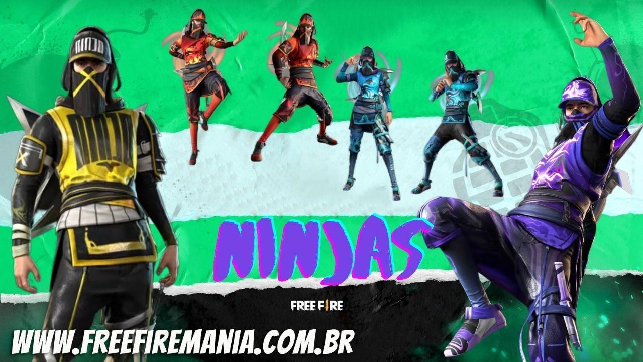 Incubadora Free Fire: nova roleta traz a temática Ninjas e chega em Julho de 2021