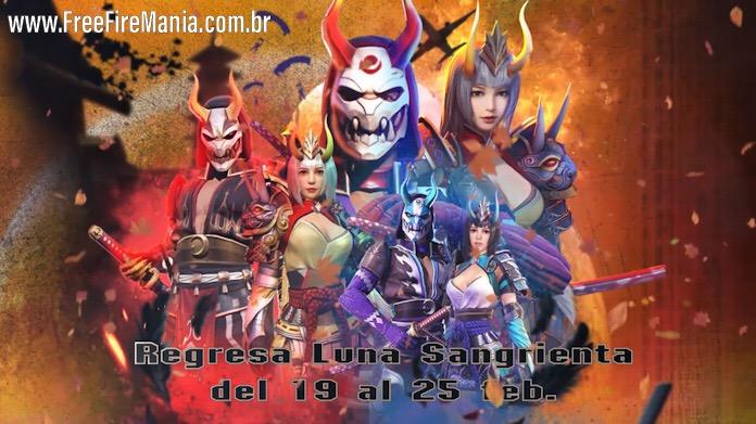 Incubadora Lua Sangrenta está de volta no Free Fire Espanhol