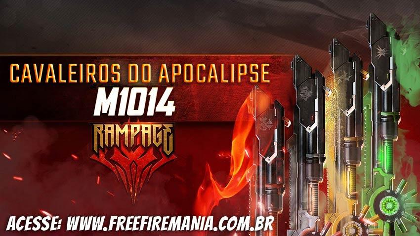 4 skins da M1014: a nova Incubadora de armas do Free Fire