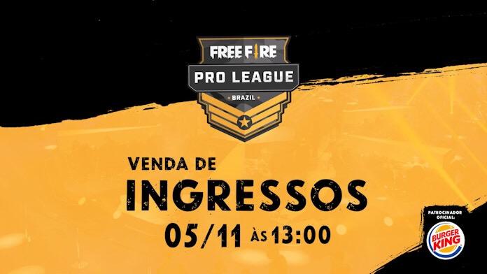 Ingressos para a Final da Free Fire Pro League Brasil