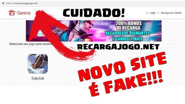 Jogadores Estão Sendo ROUBADOS no Site Recarga Jogo . NET