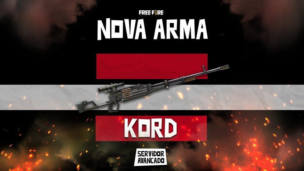 Kord Free Fire: nova arma é uma metralhadora e foi anunciada pela Garena para Abril de 2021