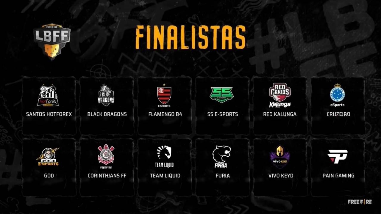 LBFF 2020: confira as 12 equipes finalistas da competição