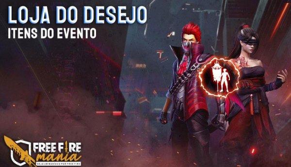Loja do Desejo 7.0: revelada as skins e itens do novo evento do Free Fire