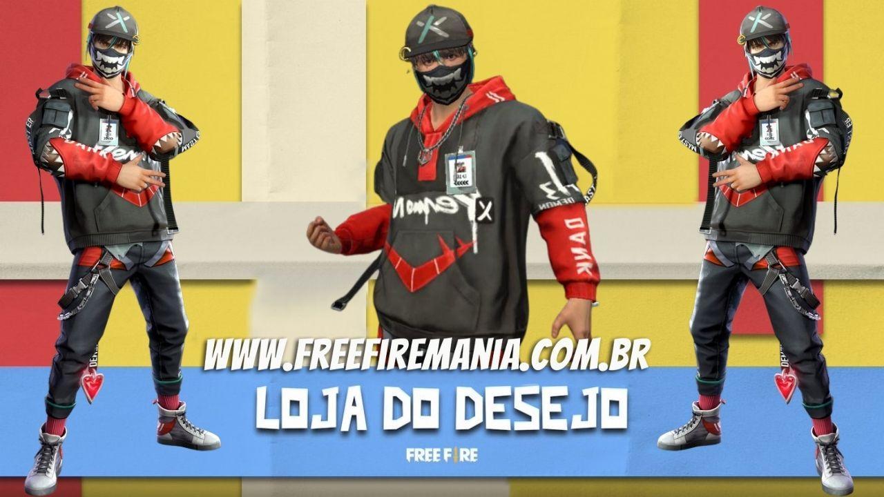 Loja do Desejo Free Fire 14.0: como pegar pacote Caveirinha