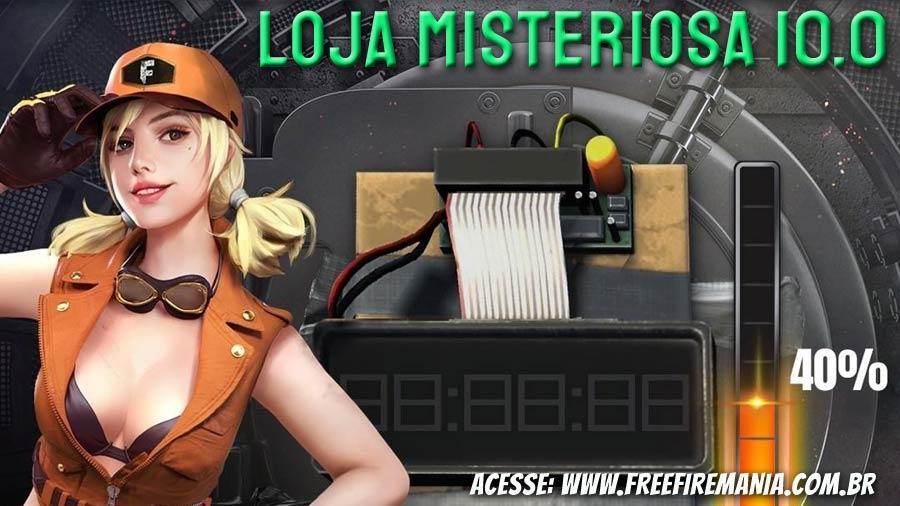 Loja Misteriosa 10.0 do Free Fire não chegará em Julho