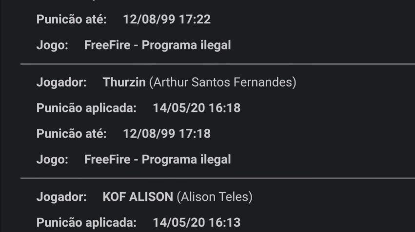 LOUD Thurzin banido por hack? Veja a lista completa do BlackBox