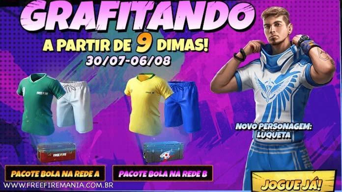 Luqueta Free Fire: novo personagem disponível no evento Grafitando
