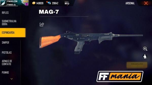 MAG-7: nova arma pode chegar no Free Fire na atualização de Dezembro 2020