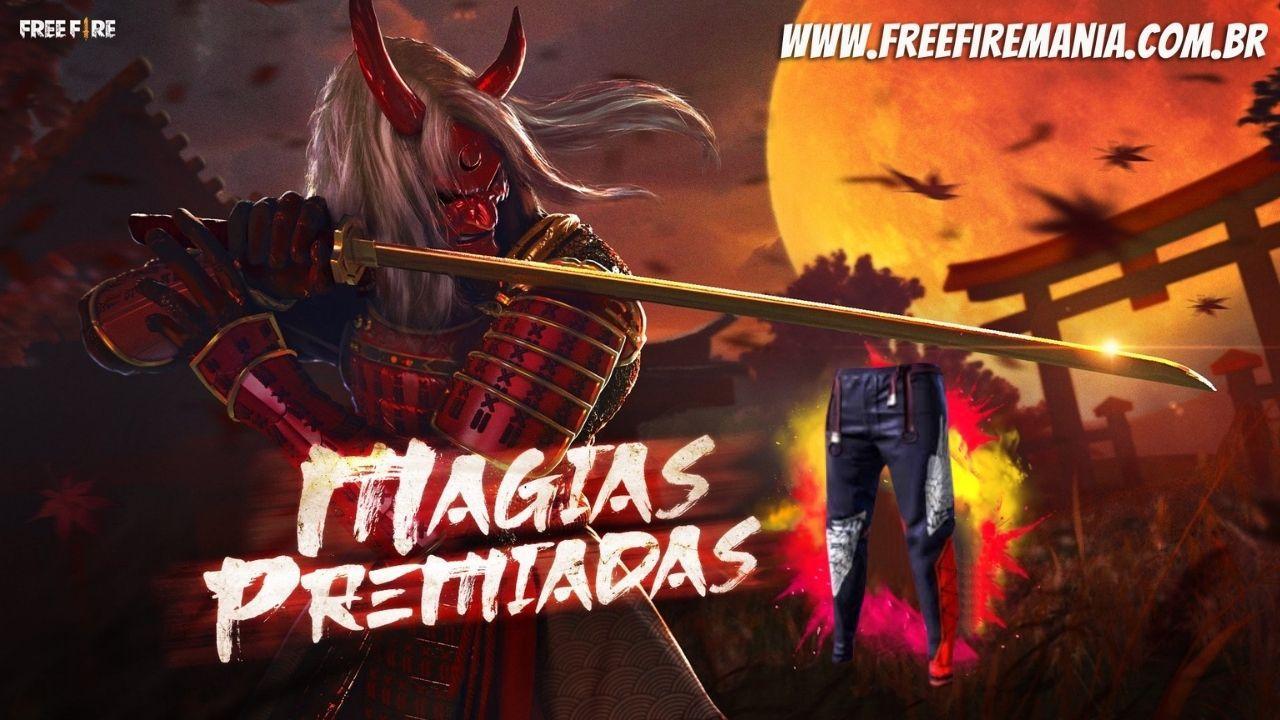 Magias Premiadas Free Fire: Calça Angelical é a principal recompensa, veja como conseguir