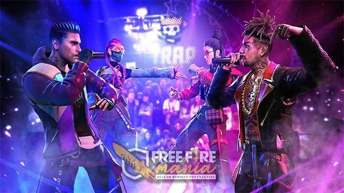 Mega evento Revolução Trap no Free fire.