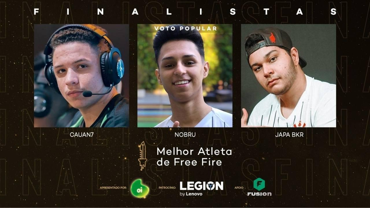Melhor Atleta de Free Fire 2020: Nobru, Cauan7 e JapaBKR são os finalistas