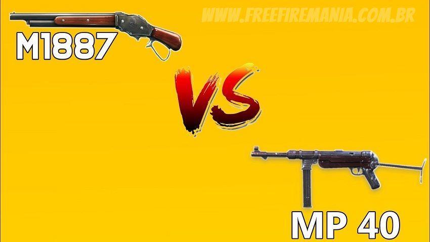 MP40 e M1887 são as armas que mais abatem no Free Fire, confira a lista!