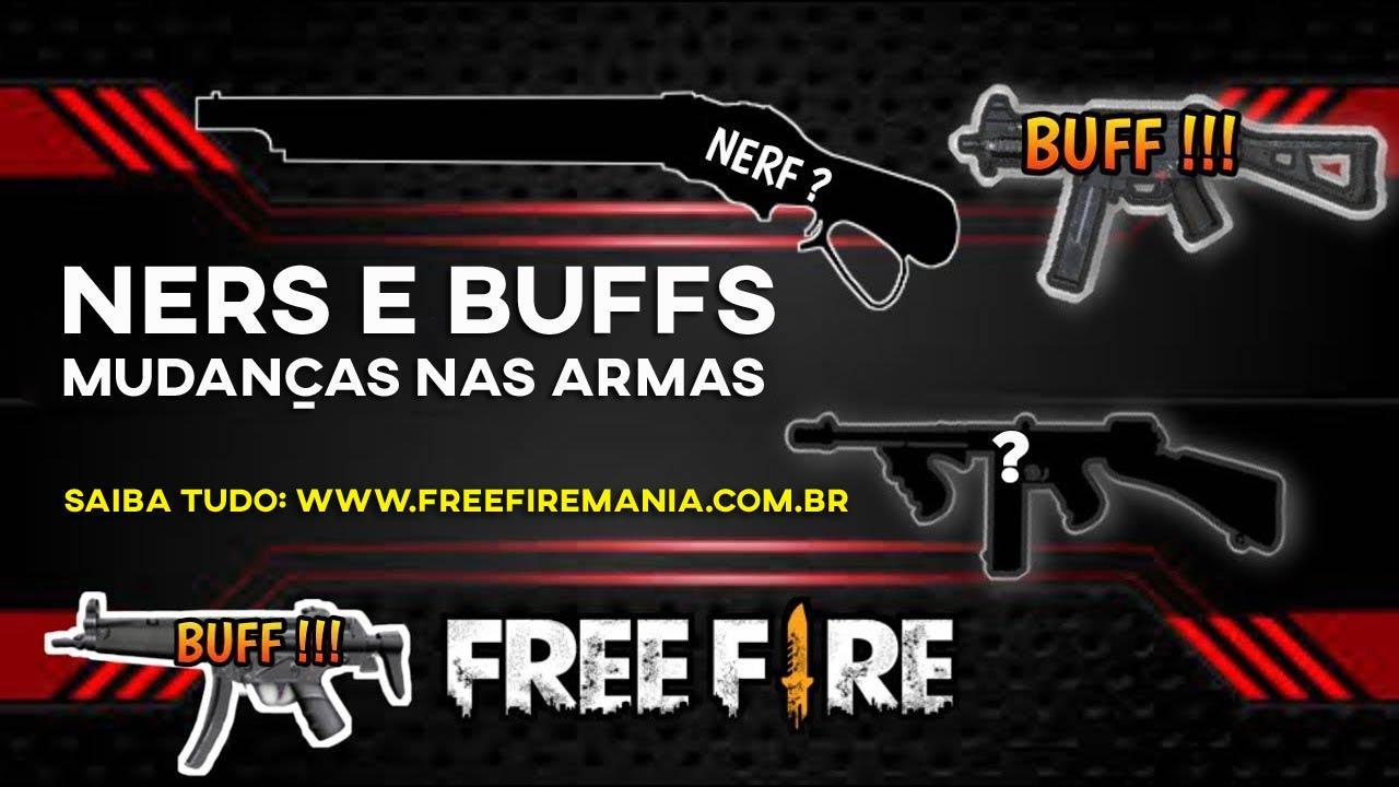 Oficial: Nerf da DOZE NOVA M1887 e melhorias nas Submetralhadoras do Free Fire