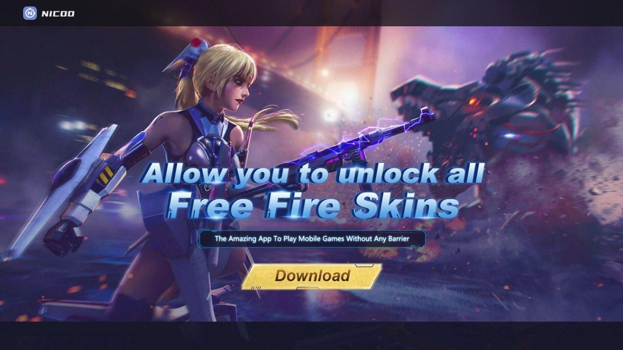 Nicoo Free Fire atualizado 2021: download do APK promete desbloquear todas as skins, veja como funciona