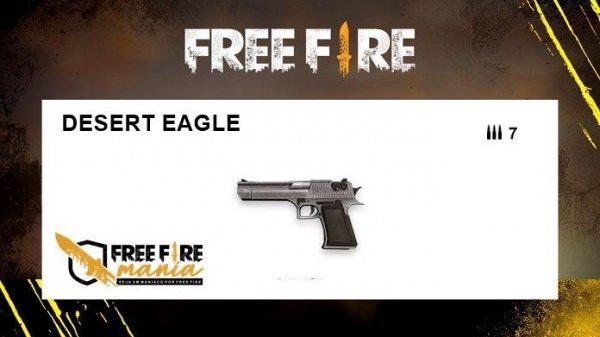 Nova Arma do Free Fire: Águia do Deserto
