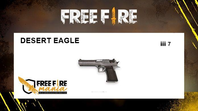 Nova Arma do Free Fire: Águia do Deserto