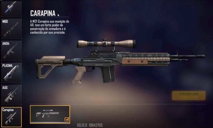 Carapina Free Fire: nova arma M21 disponível no jogo