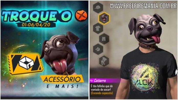 Nova Máscara Catiorro: Jogue modo CS e ganhe grátis no Free Fire