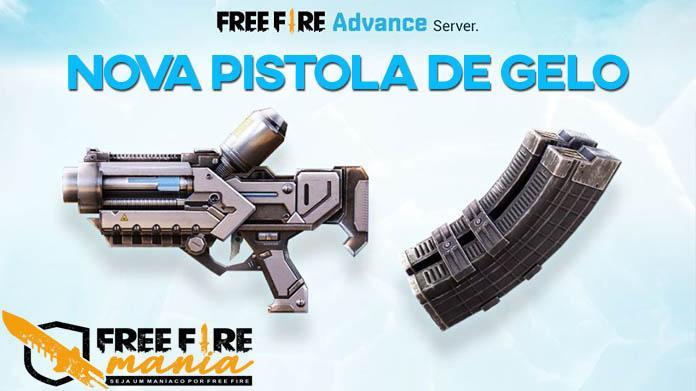 Nova Pistola de Gelo e Cartucho Rápido no Free Fire