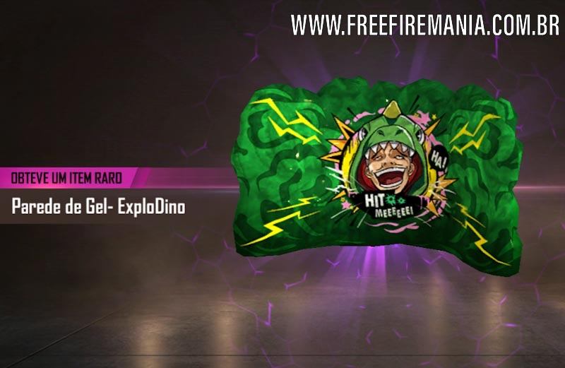 Nova Skin da Granada de Gel: ExploDino