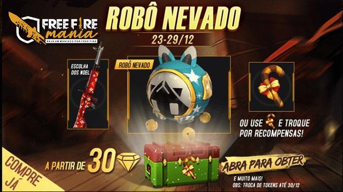 Nova Skin de Pet: Robô Nevado Chegou ao servidor brasileiro do Free fire