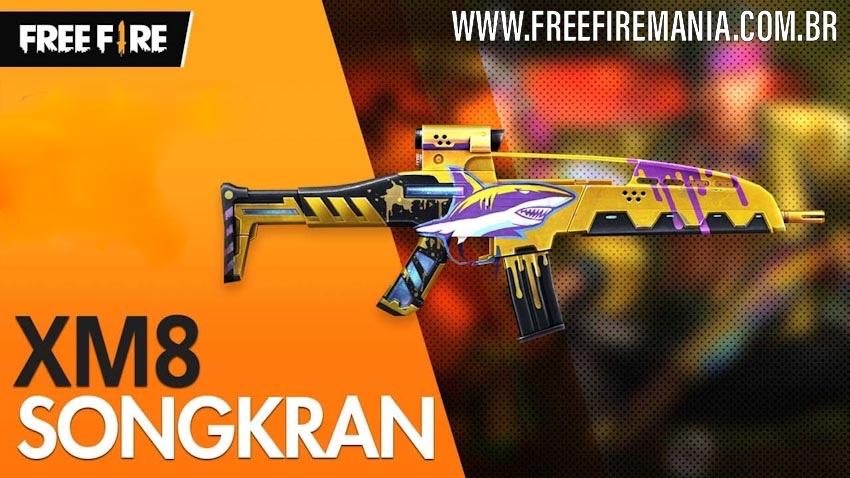 Nova skin Lendária da XM8 TUBA no Free Fire