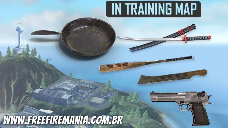 Novas Armas na Ilha de Treinamento: Águia do Deserto e Armas Brancas