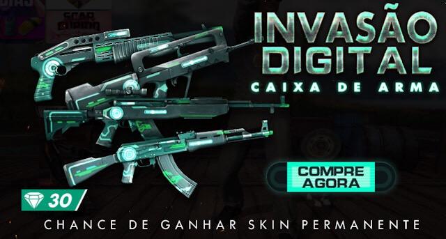 Novas Skins de Armas: Invasão Digital