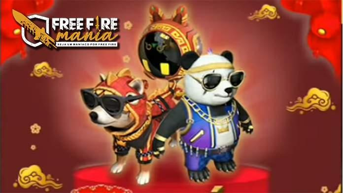 Novas Skins de Pet: MC Shiba e MC Panda no Free fire