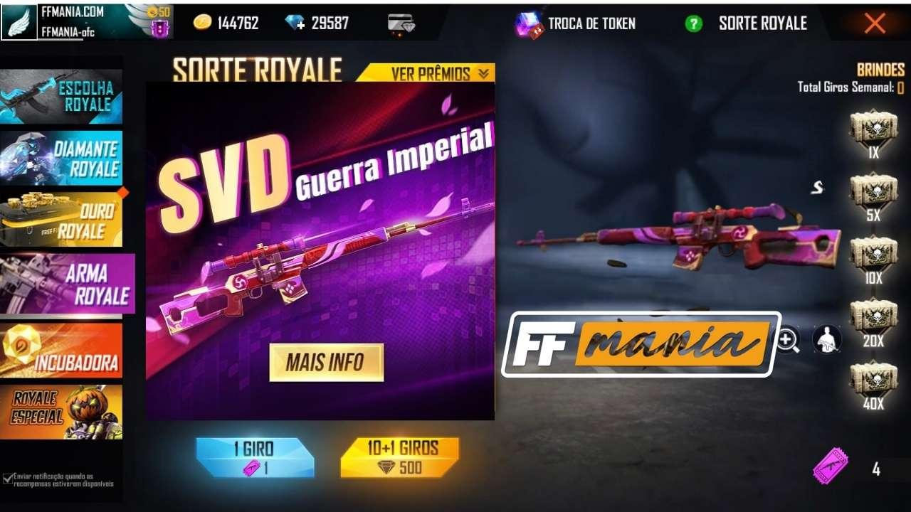 Novo Arma Royale com a arma lendária SVD - Guerra Imperial