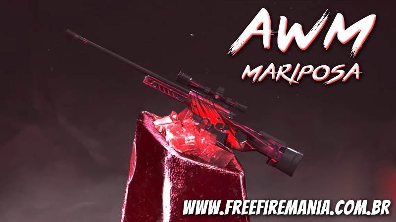 Novo Arma Royale da AWM Duque Mariposa no Free Fire
